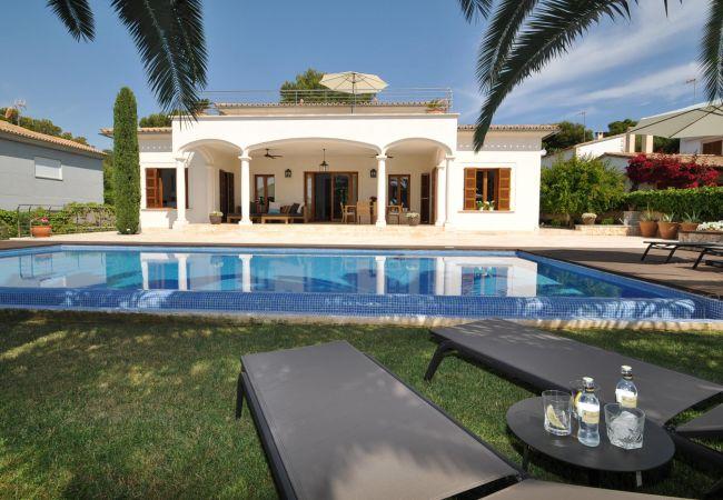 Villa Murta Ferienhaus in Porto Cristo Pool und ein schöner Garten