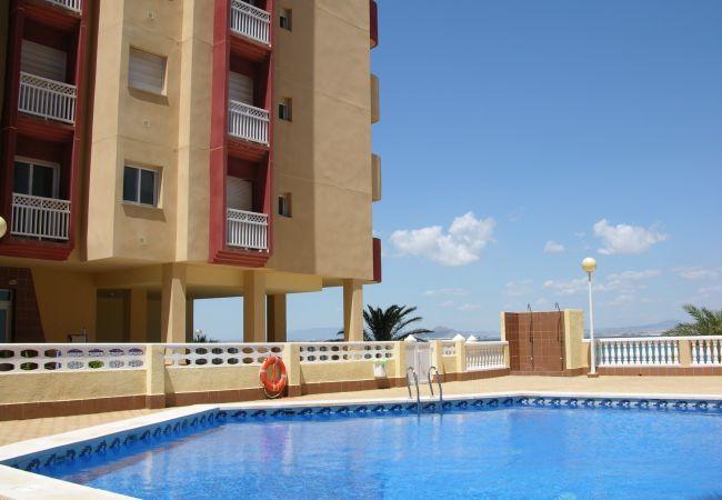 Appartement de vacances Apart. mit fantastischem Meerblick, gratis WiFi, Balkon, Gemeinschaftspool (1992742), La Manga del Mar Menor, Costa Calida, Murcie, Espagne, image 2