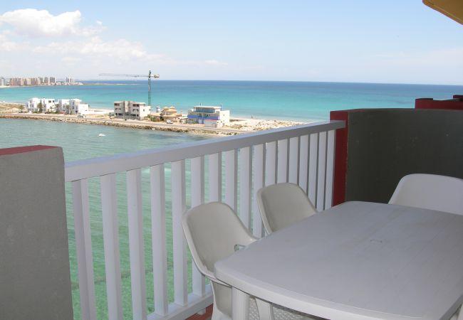 Appartement de vacances Apart. mit fantastischem Meerblick, gratis WiFi, Balkon, Gemeinschaftspool (1992742), La Manga del Mar Menor, Costa Calida, Murcie, Espagne, image 6