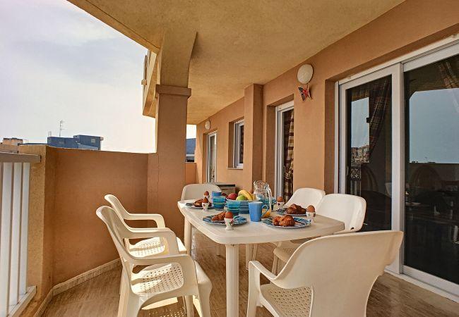 Appartement de vacances Apart. mit Meerblick 2. Stock, gratis WiFi, Gemeinschaftspool, Tennis (2069735), La Manga del Mar Menor, Costa Calida, Murcie, Espagne, image 15