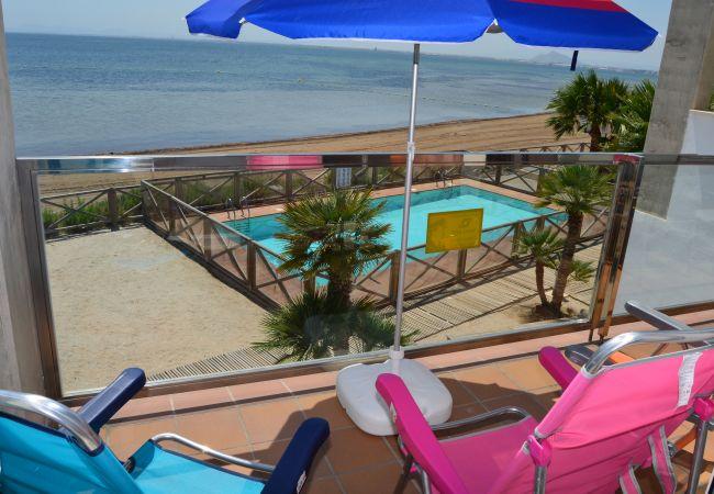 Appartement de vacances Wohnung im 1. Stock, Meer- und Poolblick, gratis WiFi. (2222939), La Manga del Mar Menor, Costa Calida, Murcie, Espagne, image 3
