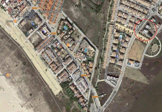 El Balneario - Vista aérea ubicación circulo rojo