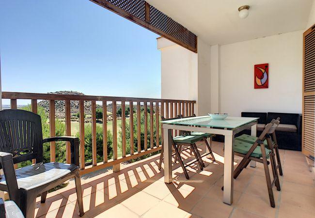 Appartement de vacances Frontlinie Golf, Gemeinschaftspool, gratis WiFi, Balkon (2454082), Baños y Mendigo, , Murcie, Espagne, image 16
