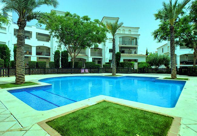 Appartement de vacances Blick auf den Pool, gratis WiFi, Erdgeschoss, Sat-TV (2464750), Roldan, , Murcie, Espagne, image 1