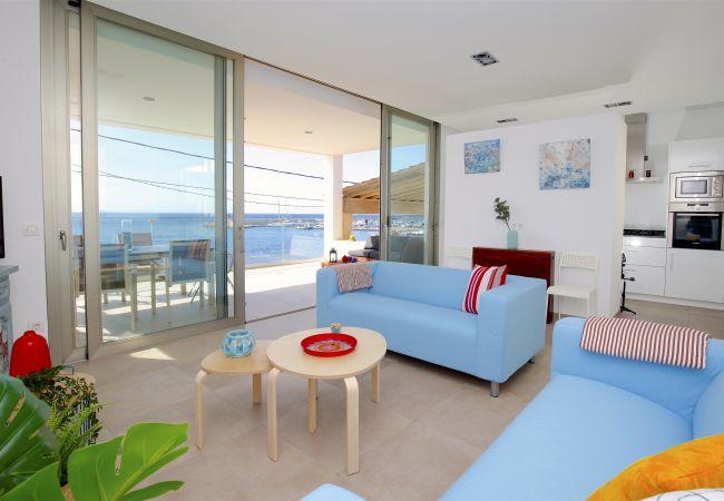 Familiar apartamento frente al mar
