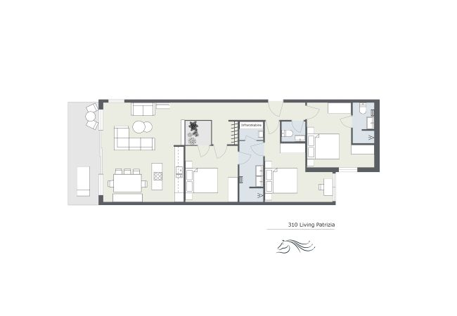 Holiday apartment 310 Living Patrizia im Montafon | Drei Türme 10 (2617492), Tschagguns, Montafon, Vorarlberg, Austria, picture 2